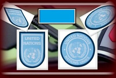Ready to patch Gewebtes Stoffpatch United Nations UN Blau m. Klettrücks.