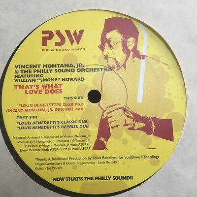Rare Modern soul northern  boogie - Vincent Montana jr - That's what love does -