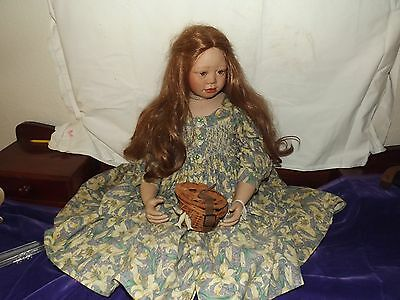 Christene Orange porcelain collector doll, 217 of 500, 32 inches.