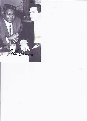 Fats Domino -R&B Singer/Songwriter  - AWESOME 4x6 AUTOGRAPHED  pp PHOTO