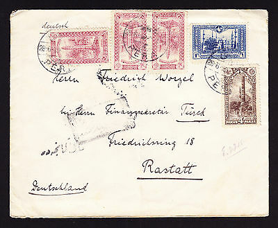 Turkey Turkish interesting cover displaying five stamps to Germany Brief Lettre
