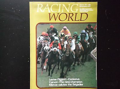 """RACING WORLD"" VOL 1 No 1 SPRING 1973 IN V/G CONDITION"