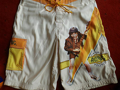 Acdc High Voltage Dragonfly Official Shorts Angus Young Bon Scott Phil Rudd