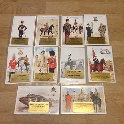 #53 - Mixed lot of 10 x Military Postcard Sets