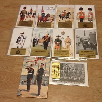 #58 - Mixed lot of 10 x Military Postcard Sets