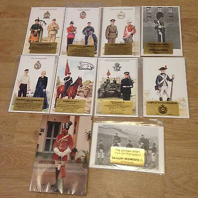 #59 - Mixed lot of 10 x Military Postcard Sets