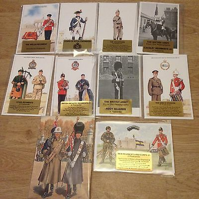 #61 - Mixed lot of 10 x Military Postcard Sets