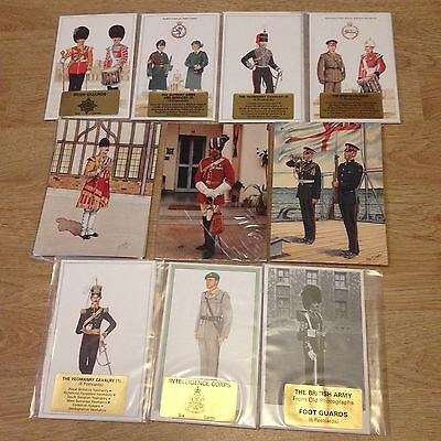 #63 - Mixed lot of 10 x Military Postcard Sets