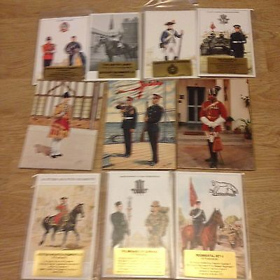 #64 - Mixed lot of 10 x Military Postcard Sets