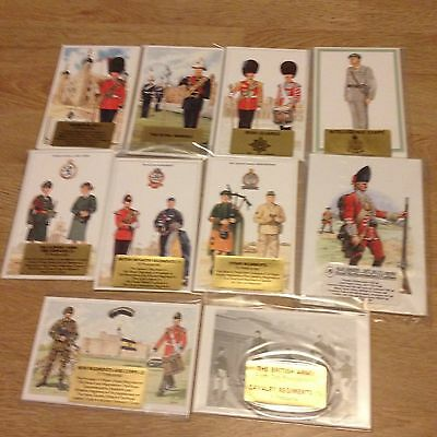#67 - Mixed lot of 10 x Military Postcard Sets