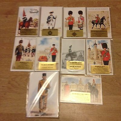 #71 - Mixed lot of 10 x Military Postcard Sets