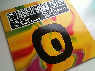 "Disposable Dubs Vol 5 - Tidy Trax House / Hardhouse Trance 12"" Vinyl Record Dj"