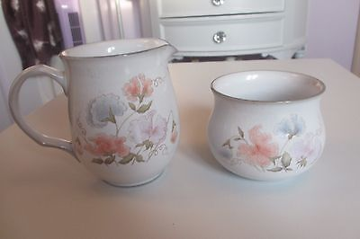 Denby Encore Pattern Milk Jug and Sugar Bowl