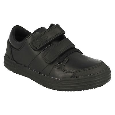 Boys Clarks Infant Junior Leather Riptape Trainers School Shoes Size Chad Racer