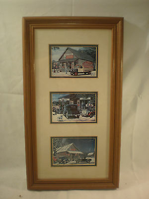 Coca Cola Pictures In Wooden Frame 22 1/2 X 12 1/2