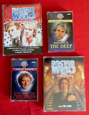 Doctor Who Audio Cassette Tapes Featuring the 5th 6th and 8th Doctors