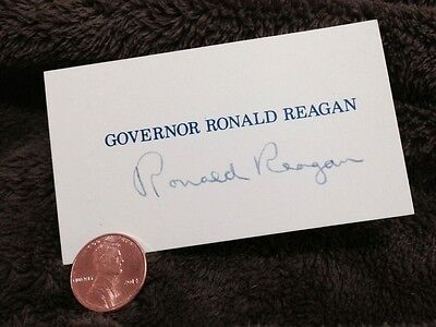 Ronald Reagan Signed/Autographed Calling Card. First Generation Copy