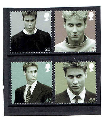 GB 2003 Prince William, Set of 4. SG2381-2384, UnMounted Mint