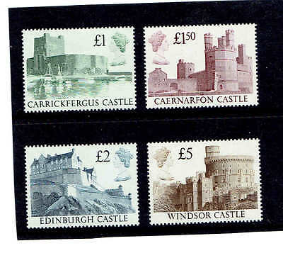 GB 1988 High Value Castles, Set of 4. SG1410-1413, UnMounted Mint