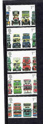 GB 2001 Double-Decker Buses. Set of 5 SINGLES. SG2210-2214, UnMounted Mint