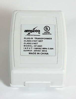 Amseco XF-2420 Plug-in Transformer Power Supply, 24VAC 20VA