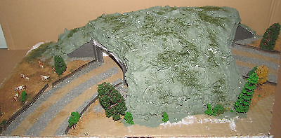 B Scratchbuilt Double Track Tunnel On Baseplate Suit N Gauge Railway Layout