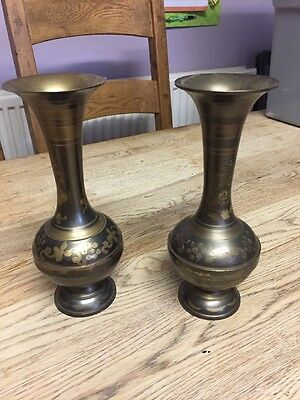 Vintage Brass Vases Made In India