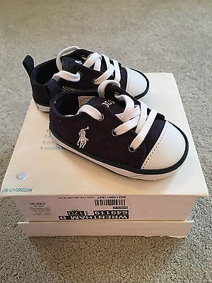 Ralph Lauren Baby Infant Trainers Shoes -SZ 1 1/2 For 3-6 Months - NEW In Box
