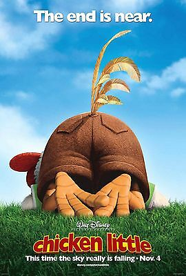 Chicken Little Laminated Mini Movie Poster A4 Style 1 Disney