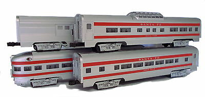 Williams Sante Fe 60' Streamliner Coach Pack (0 gauge) 43098