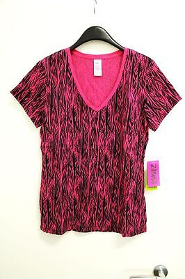 Zumba Fitness Damen WT Tee Safari All-Over Graphic, Back To The Fuchsia, M *NEU*