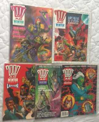 2000 AD WINTER SPECIAL x 5 – 1988 to 1993
