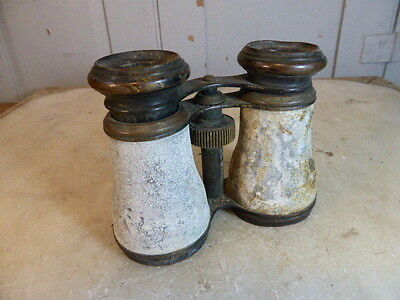 Antique French brass opera glasses