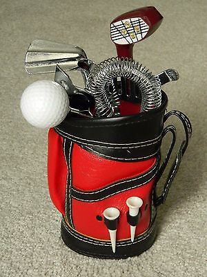 Mini Golf Bag With Bartender/Cocktail Tools, Novelty Gadget Gift