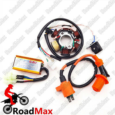 6 Pins 50cc Magneto Stator Ignition Coil CDI For GY6 ATV Kart  Moped Scooter