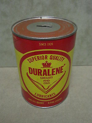 Duralene Oil Bank Cardboard Advertising Type from United Oil Co. Baltimore, MD