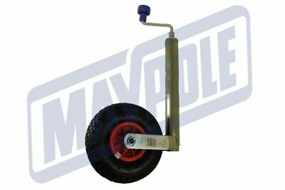Maypole 48mm Medium Duty Trailer Jockey Wheel With Pneumatic Tyre & Clamp MP437