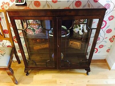 Antique Victorian Mahogany Glass Display Cabinet