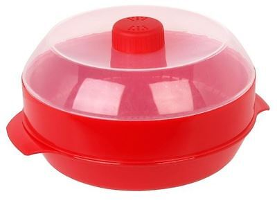 Pendeford Microwave Microwavable Vegetable Rice Veg Steamer Red With Lid