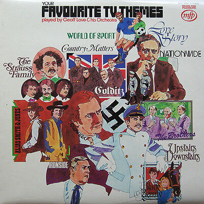 Geoff Love and His Orchestra-Your Favourite T.V. Themes LP-Music For Pleasure, M