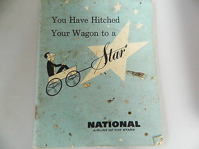 Vintage Rare National Airlines New Employee Handbook 1960's