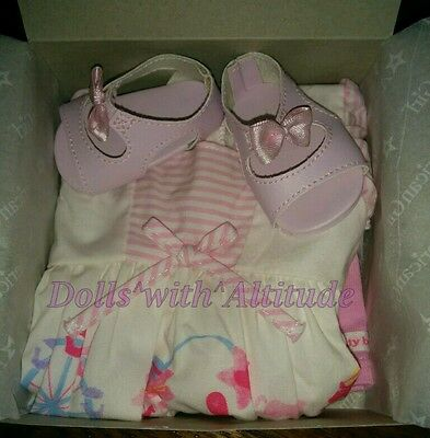 NEW American Girl Bitty Baby or Twins Pastel Carousel Dress Outfit for Doll
