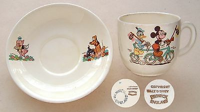 "Beswick: Disney: Cup & Saucer: Mickey Mouse, Donald Duck, etc: Cup 3⅛"" Diameter"