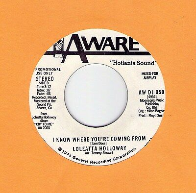 """Killer Modern Soul (Hear!) LOLEATTA HOLLOWAY """"I Know Where You're Coming From"""""""