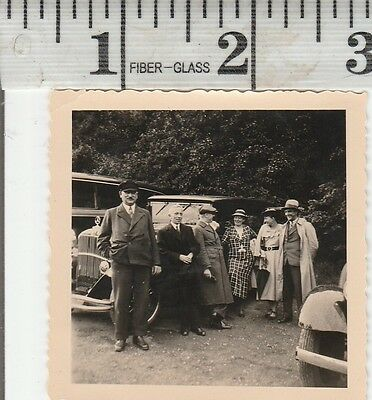 Vintage Photo wealthy family with there chauffeur   #999