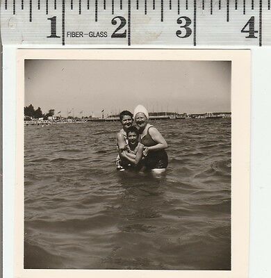 Vintage Photo woman in swimsuits in water   #926