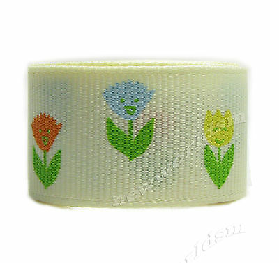 6y 22mm Candlelight Carnation  Mother's Day Grosgrain Ribbon Eco Premium FREE PP