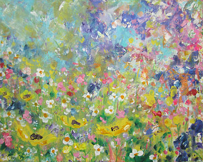 Spring in the Woodland Garden: an original painting on canvas by Jenny Hare