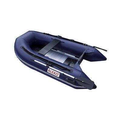 ALEKO Inflatable Pontoon Boat With Aluminum Floor 8 Ft 4 Inch Blue