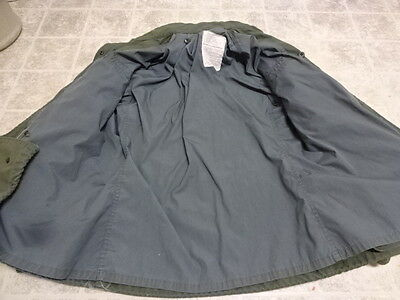 Vintage U.s Army Vietnam M65 Jacket Great Cond Not Much Used Rare Gray Lining 72